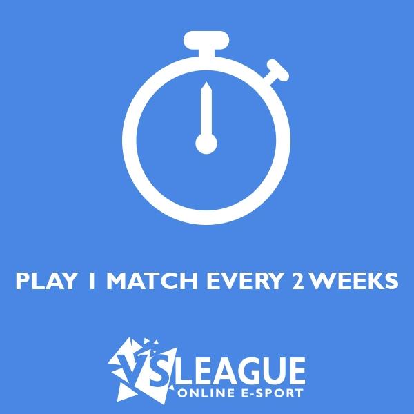 Un match toutes les 2 semaines sur VSLeague !