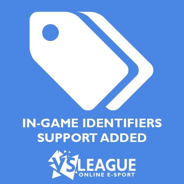 Ajout des identifiants de jeu sur VSLeague