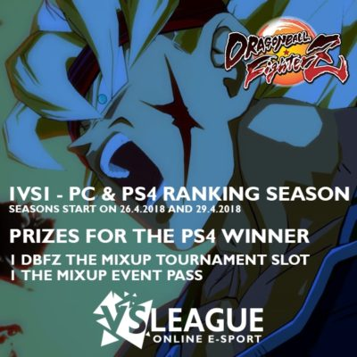 VSLeague - Online e-sport - Dragon Ball FighterZ - 1V1 PC AND PS4 LEAGUES