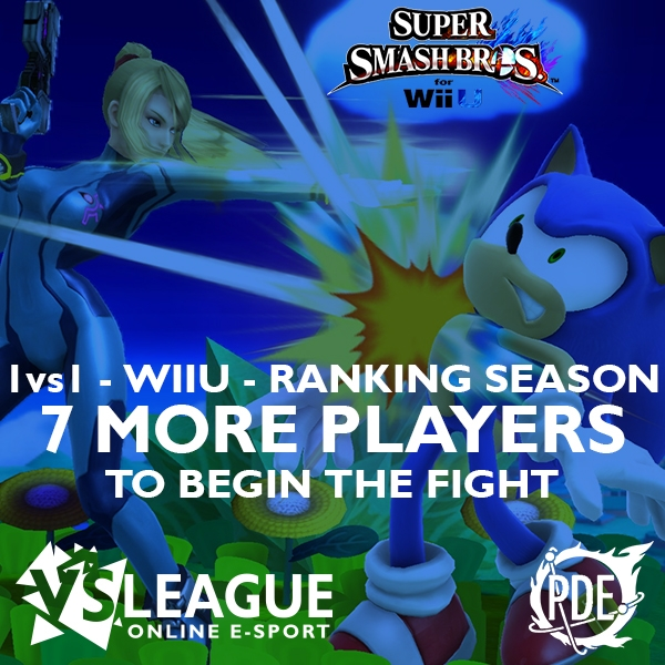 7 more players to start the Super Smash Bros. For Wii U league (1vs1 – Wii U) !